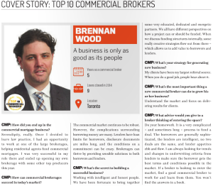 CMP Top 10 commercial brokers toronto