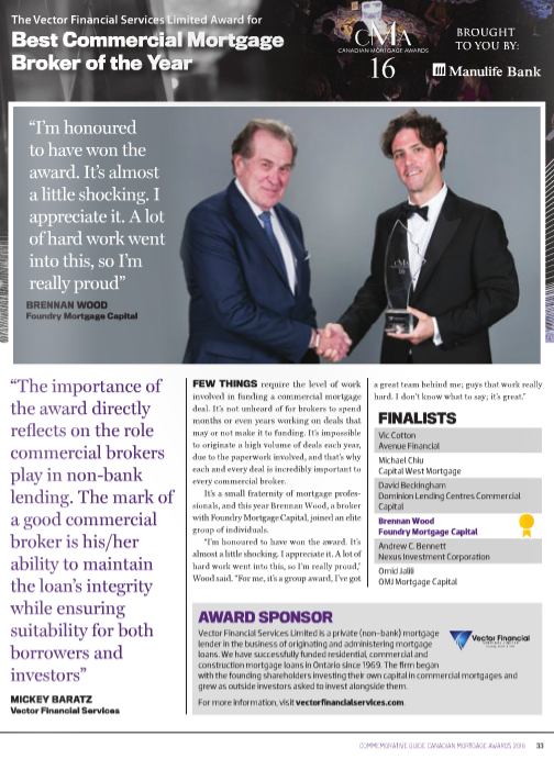commercial mortgage broker of the year